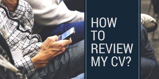 Free CV Review Service